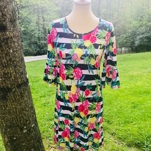 Vera Fishbaugh size xs fun & colorful dress